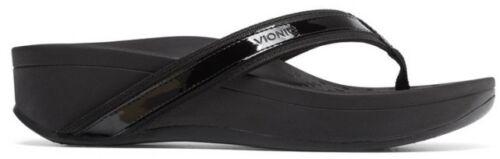 Vionic Orthaheel Women Orthotic Pacific High Tide Platform Toe Post Sandal Black
