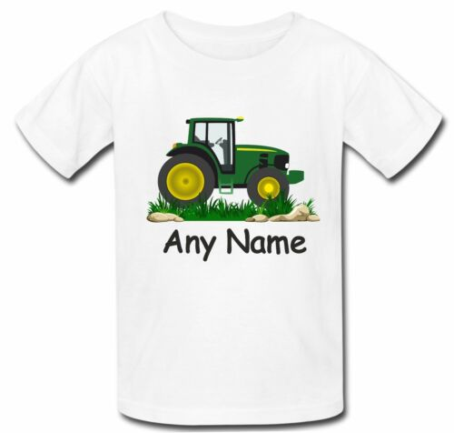 Personalised Tractor Boys Girls T Shirt Top christmas xmas gift Birthday
