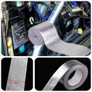 "1 1//2/"" 2/"" Adhesive Backed Heat Shield Wrap Tape For Car Intake Intercooler Pipe"