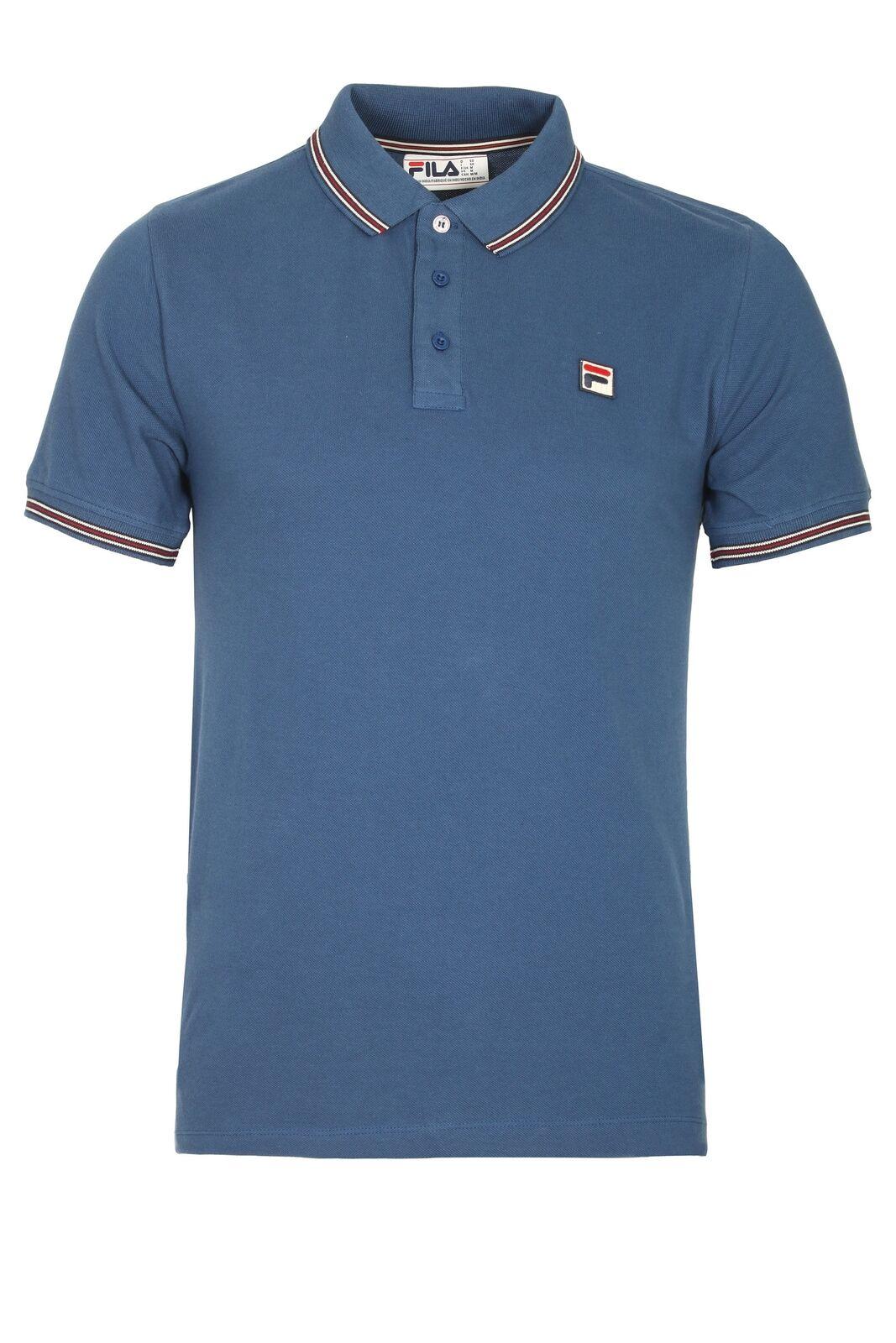 Mens Polo FILA VINTAGE Matcho Polo Shirt   True Navy