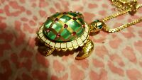 Betsey Johnson Fabulous sea Excursion Long Necklace With Turtle Pendant