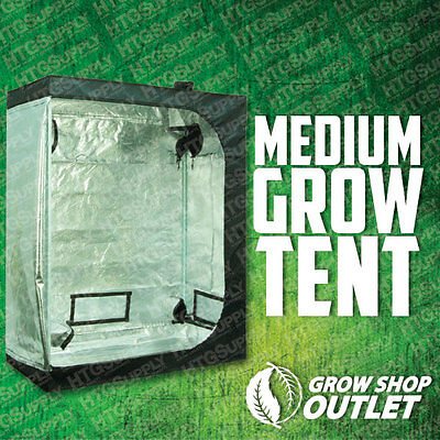 "2'x4'x5' GROW TENT ROOM 48""x24""x60"" Reflective Mylar Hydro Box Cabinet Hut Dark"