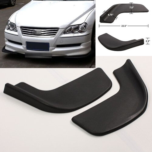 2x Black Front Shovel Racing Car Left/&Right Bumper Spoiler Protector Winglet New
