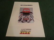1987 1988 1989 YUGO PLUS ACCESSORIES UK 16pg BROCHURE 45 55 311 511 513 Zastava