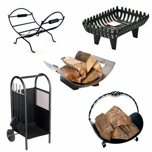 log holder cradle fireplace wood coal basket log store rack firewood rh ebay co uk