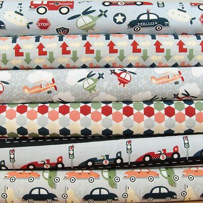 Racing car fat quarter bundle /&  polycotton fabrics per 1//2 metre