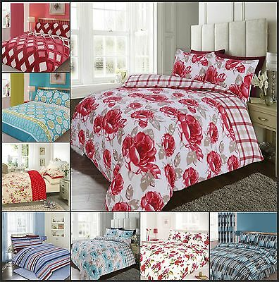 Single Double King Duvet Quilt Cover Bedding Sets W Pillowcases