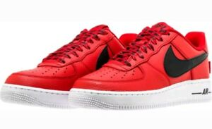7f78ee2608dc Nike Air Force 1  07 LV8 NBA Pack 823511-604 Red Black White Shoes ...