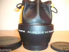 OLYMPUS IS/L E-1.3X HQ Teleconverter Lens ~ 52MM CON TAPPO ANTERIORE TAPPO POSTERIORE ~ ~ Bag 26O13