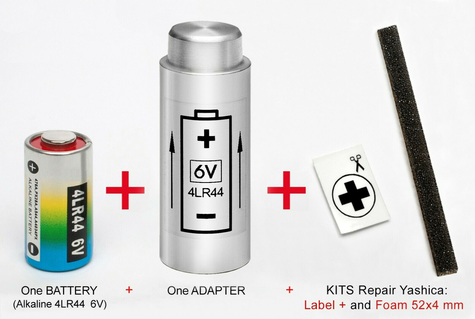 ADAPTER + BATTERY + KIT: YASHICA Electro 35 G, GL, GS ,GT,...