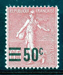 STAMP-TIMBRE-DE-FRANCE-NEUF-N-224-SEMEUSE-SURCHARGE
