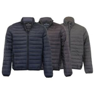 Details about Mens Jacket Threadbare Coat Padded Quilted Wadded Puffer Lightweight Winter New