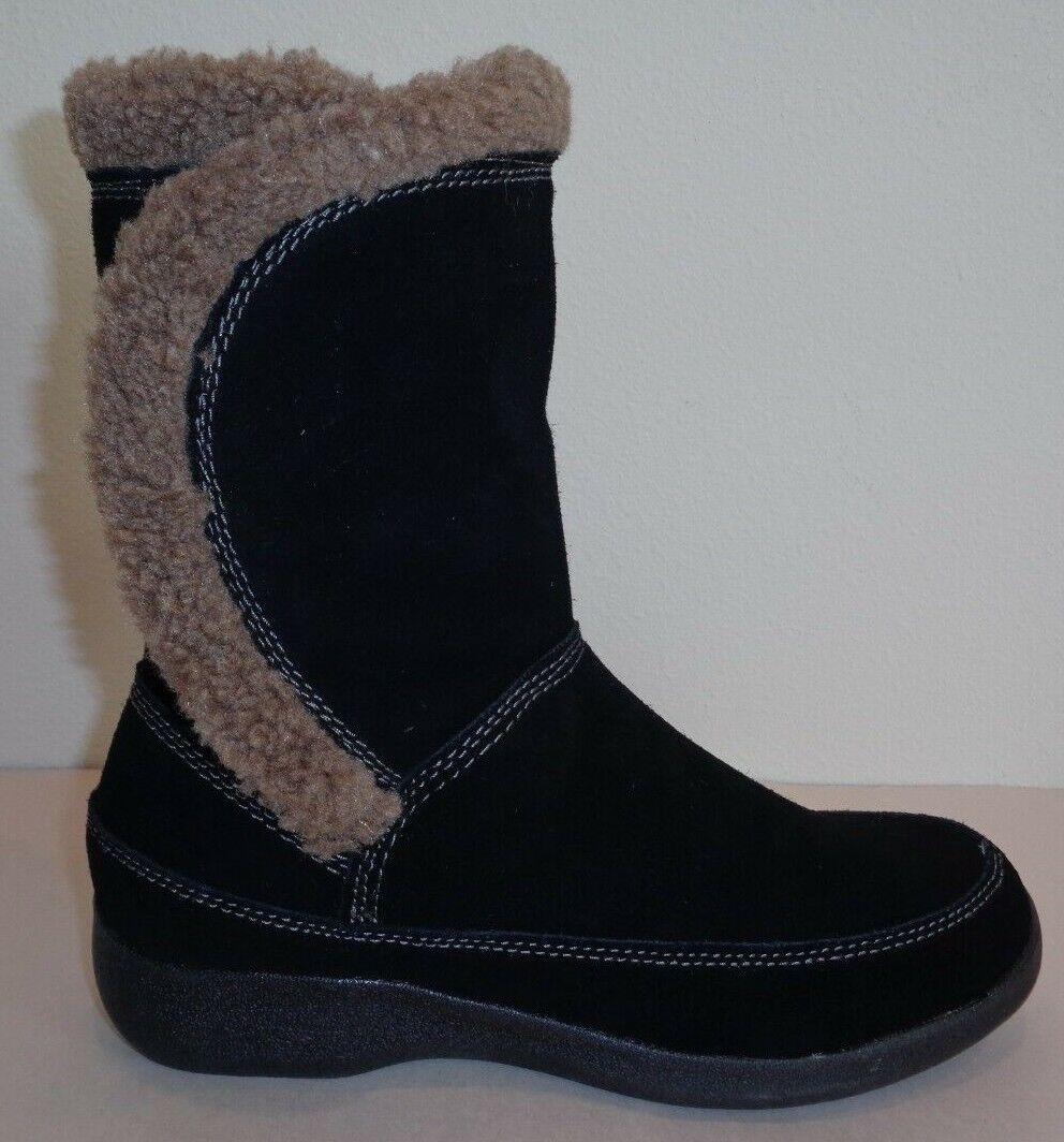 Easy Spirit M warmfeet Negro Gamuza Mitad de Pantorrilla botas Zapatos para mujer Nuevo