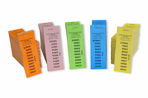 10-No-1-Perforation-Raffle-Ticket-Numbered-1-100-000-5-Different-Colours