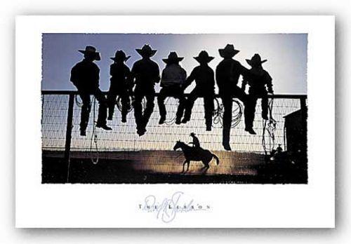 COWBOY HORSE ART PRINT The Lesson by David Stoecklein