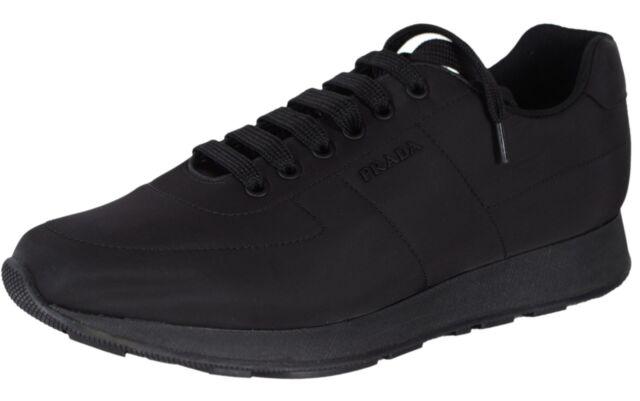 Auth PRADA Trainers Shoes 4e3231 Black