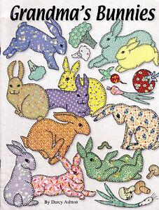 Grandma-039-s-Bunnies-fabulous-vintage-style-applique-book-Ashton