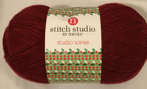 Stitch Studio Soiree Worsted 300g 557yds Yarn Color Choice Loom Crochet