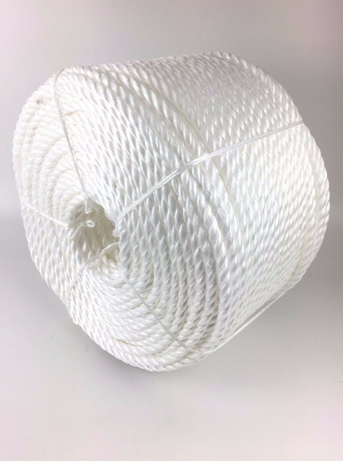 6mm White Polypropylene Rope x 500m Coil, White Poly Rope Coils, White Polyrope