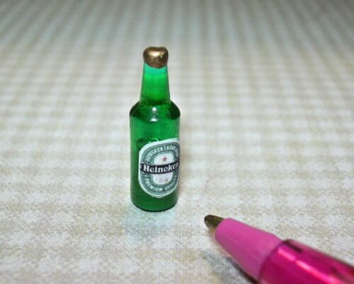 Miniature Popular Brand Dutch Beer Bottle #5 for DOLLHOUSE Miniatures 1:12