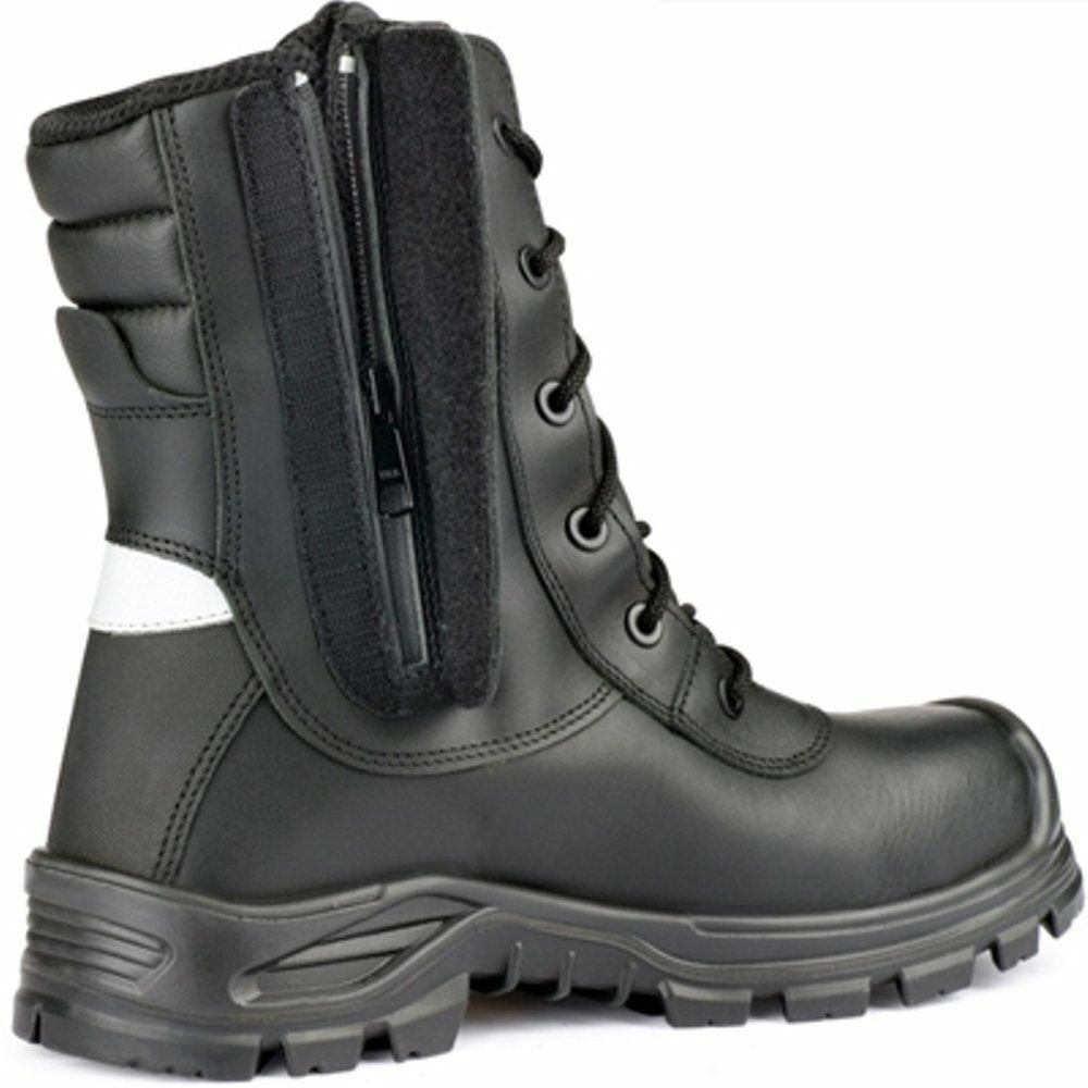 Jallatte Hi JALARCHER Leather Vibram Tactical Safety Hi Jallatte Work Toecap Zip Boots ec8772