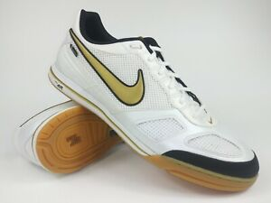 Nike-Mens-Rare-Air-Gato-Gold-White-Indoor-Soccer-Shoes-Boots-Size-13