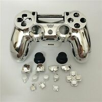 Ps4 Controller Gehäuse Trigger Modding Chrom Case Shell Button Thumbstick Silber