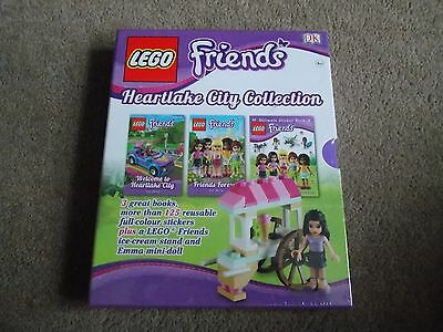 Accurato Lego-friends Book (heartlake City Collection X3 Libri + Lego) Nuovo Di Zecca-mostra Il Titolo Originale