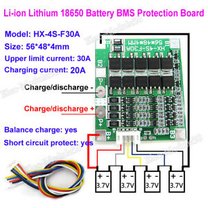 30A Balance Battery Protection Board BMS PCB For 36V 4S 10Packs Li-ion Cell LE
