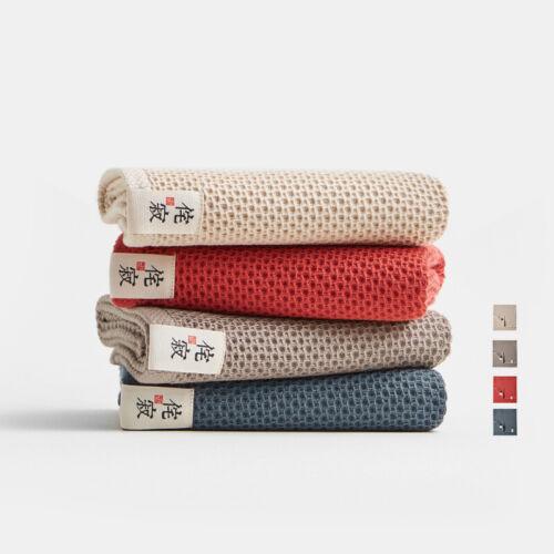 Waffle Weave 100/% Cotton Towel High Absorbent Bath Towel Hand Face Towel Cloth