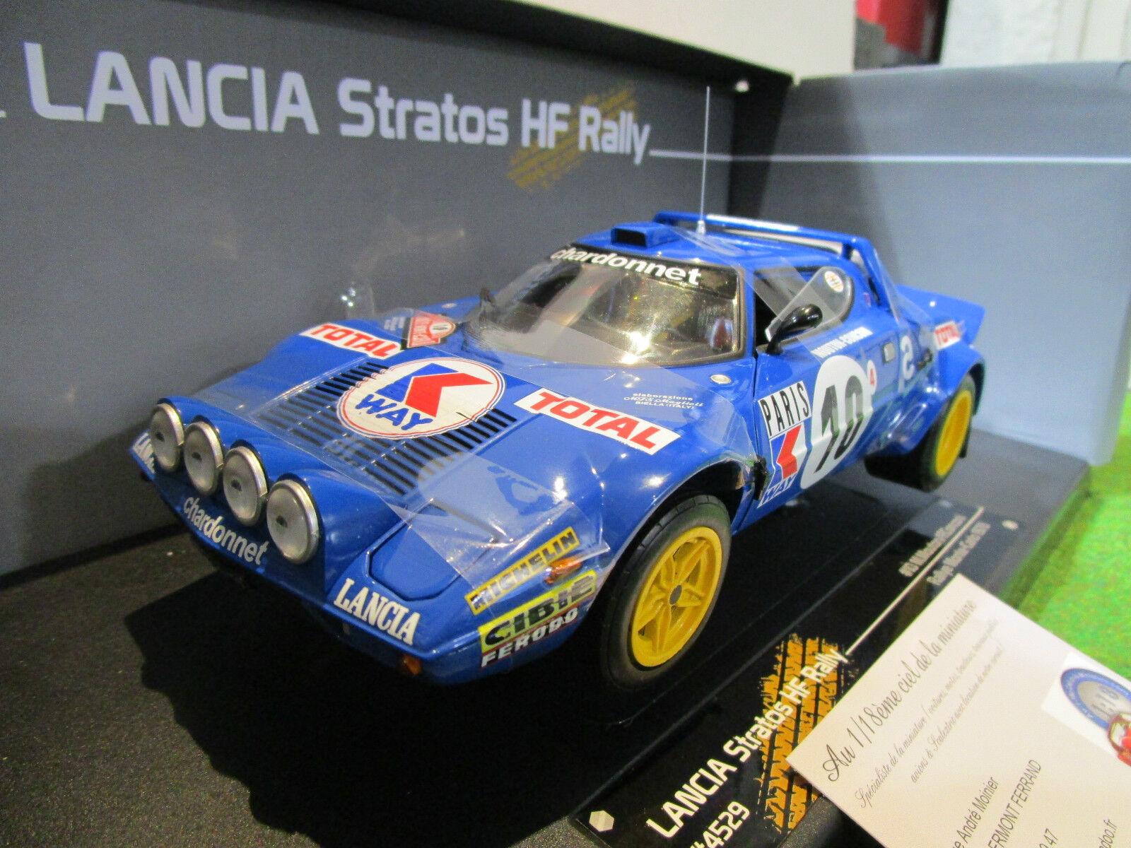 Lancia stratos  hf   10 rallye monte voiturelo 1978 1 18 sun star 4529 voiture miniat  bienvenue à l'ordre