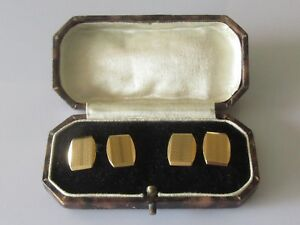 Details about Vintage 9ct Yellow Gold Pattern Hexagonal (6 1g) Chain Link  Cufflinks (Boxed)