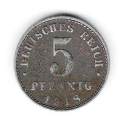 Deutschland : 5 Pfennig Von 1918