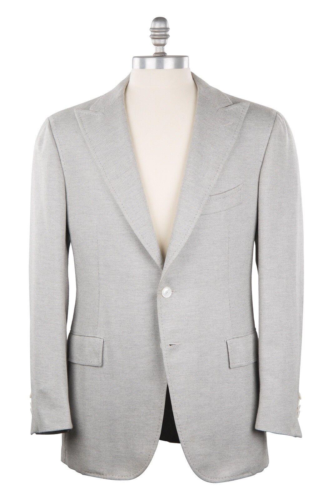Cesare Attolini Sea Island Cotton 40US/50EU Sport Coat Light grau Twill