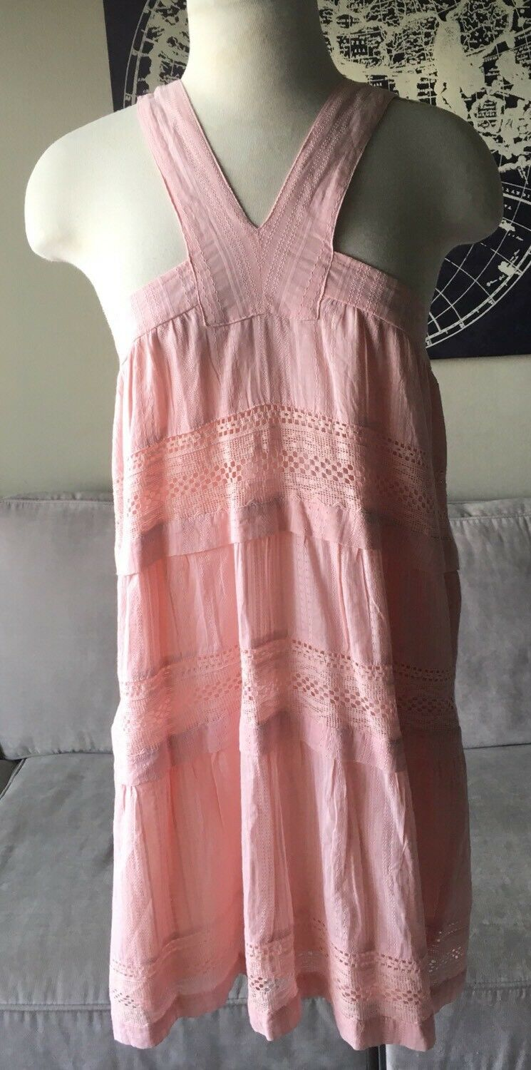 DRA Los Angeles Shanna Light Pink Dress Anthropologie Small New NWT