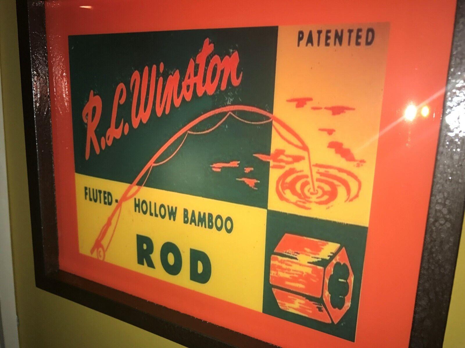 R.L. Winston Caña Reel De Pesca Con Mosca Creel Bait  Shop MAN CAVE Iluminada Signo  precios razonables