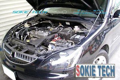 P2M CARBON FIBER ENGINE HOOD DAMPER FOR 03-07 MITSUBISHI EVO EVOLUTION 8//9