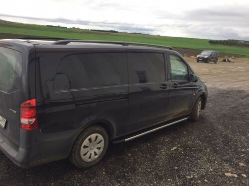 MERCEDES VITO VIANO on 2003 SWB ALUMINIUM LOCKABLE ROOF RAILS /& CROSS BARS BLACK