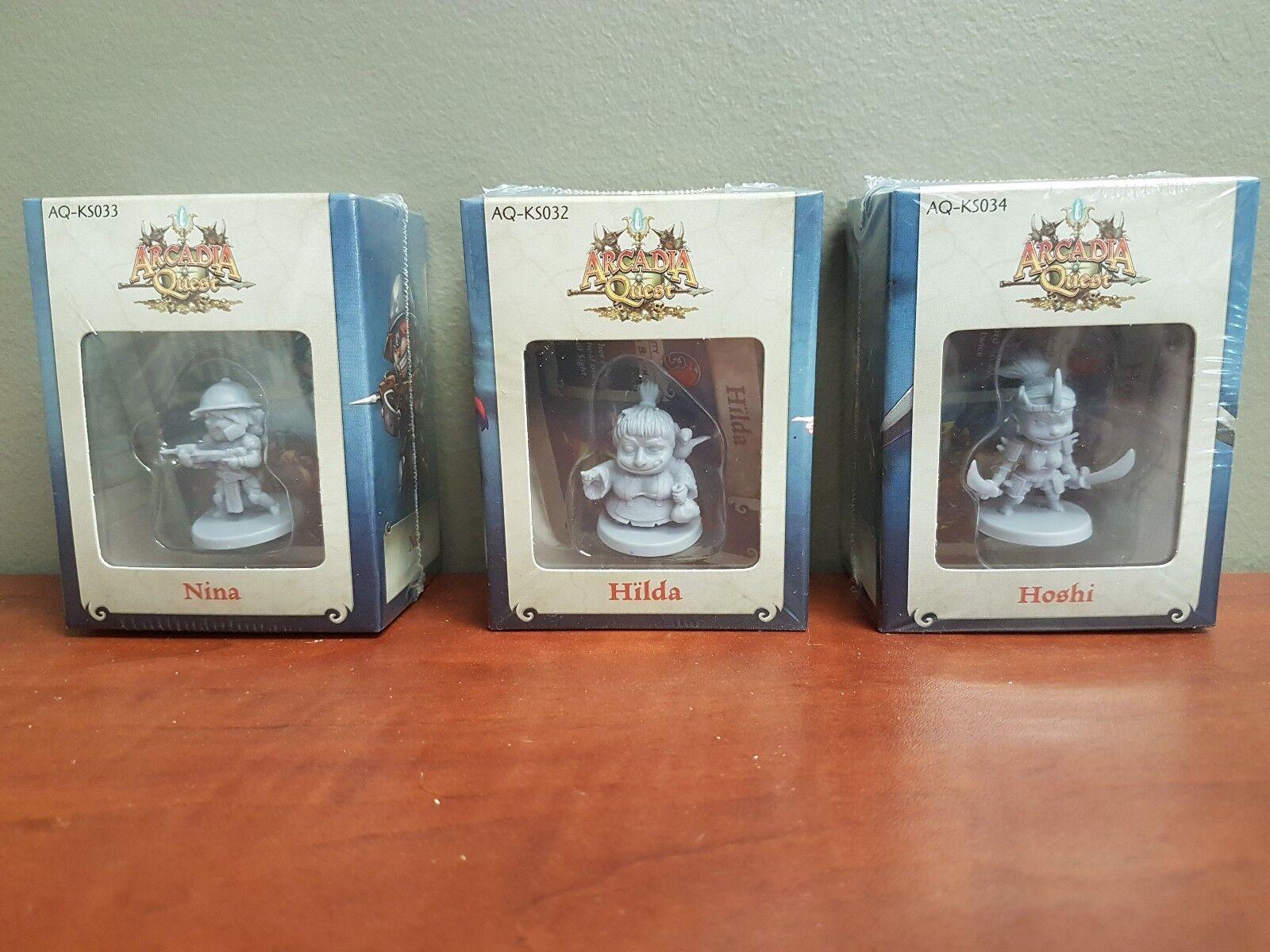 Arcadia Quest Nina, Hilda & Hoshi Promo Miniatures