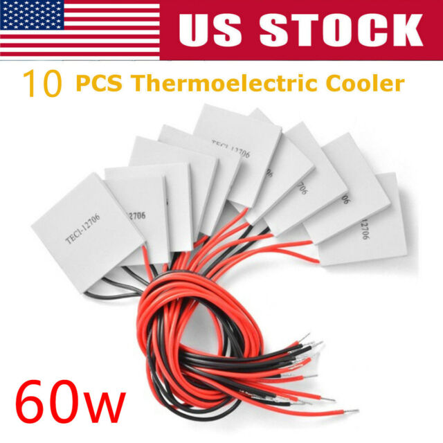 5 x12V 60W Thermoelectric Cooler TEC Peltier Module Heatsink Kit TEC1-12706 US
