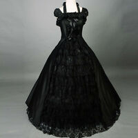 Victorian Gothic Black Southern Belle Lolita Formal Ball Gown Party Dress Custom