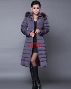 2017-Womens-Overcoats-Puffer-Coat-Long-Outwear-Hooded-Down-Slim-Jacket-Plus-Size