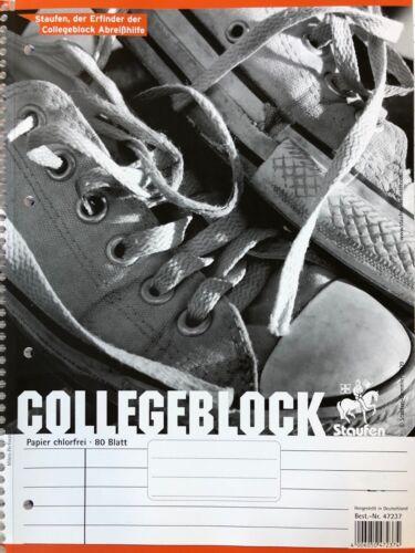 DIN A4 Staufen 21 Collegeblock Kollegblock Block liniert 2,5,10,15 20 Stück