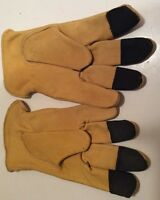 Wells Lamont Mens Premium Thick Leather Work Gloves Size Medium Hand Protection