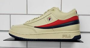 Fila T-1 Mid Sneakers, Cream | eBay