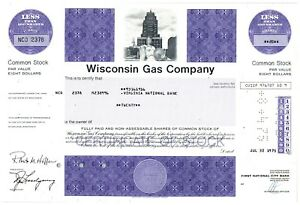 Wisconsin-Gas-Company-Common-Stock-Certificate-20-Shares