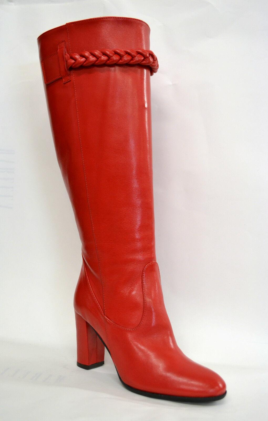 Grandes zapatos con descuento STIVALI DONNA ROSSO 100% VERA PELLE MADE ITALY ARTIGIANALI POLPACCIO SU MISURA