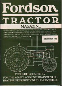 """1982 Décembre """"fordson Tracteur Magazine""""-afficher Le Titre D'origine AgréAble à GoûTer"""