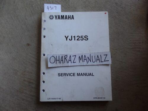 2004 YAMAHA YJ125S Service Manual OEM