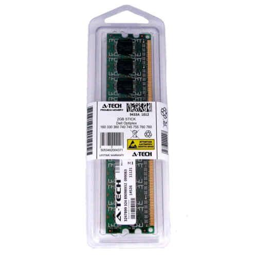 2GB DIMM Dell Optiplex 160 330 360 740 745 755 760 960 960D FX160 Ram Memory